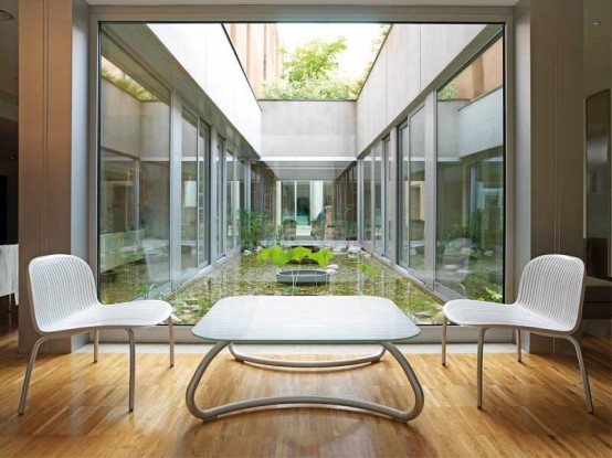 Modern White Outdoor Tables and Chairs – Loto & Ninfea from Nardi