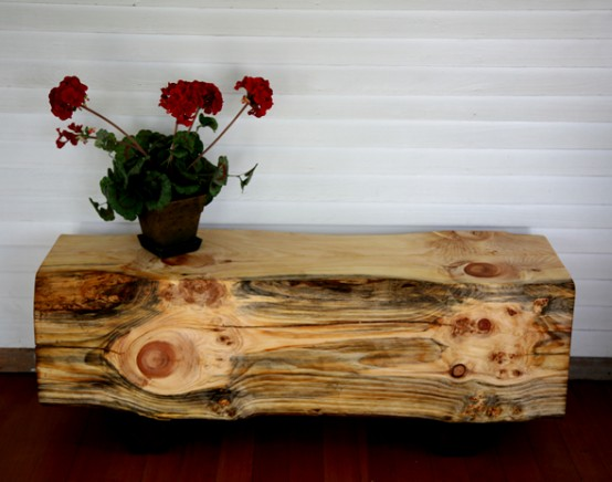 Natural Wood Furniture For Original Contemporary Room Design