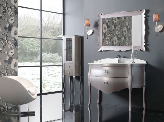 Neoclassic Furniture for Elegant Bathroom Interior Design – Paris by Macral