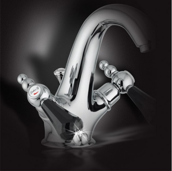 New Bathroom Faucets With Swarovsky Crysyal – Crystal by Giulini G.