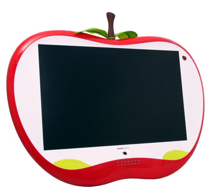 "New LCD TV with Funny Design – HANNSapple 28"" by HANNspree"