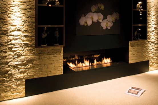New Modern Fireplace Design – Fire Line from Planika
