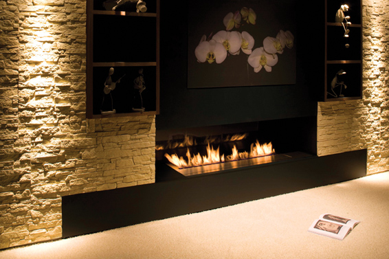 new modern fireplace design fire line from planika digsdigs