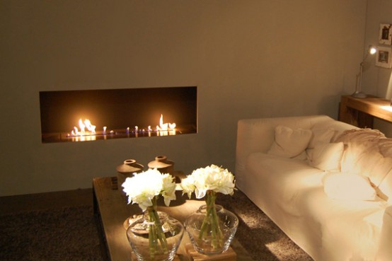 New Modern Fireplace Fire Line From Planika