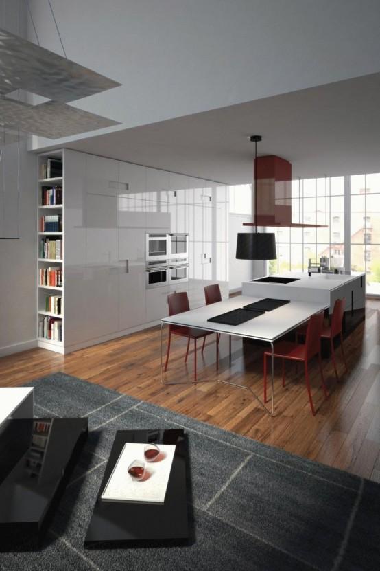 New Modern Kitchen Carré By Ernestomeda