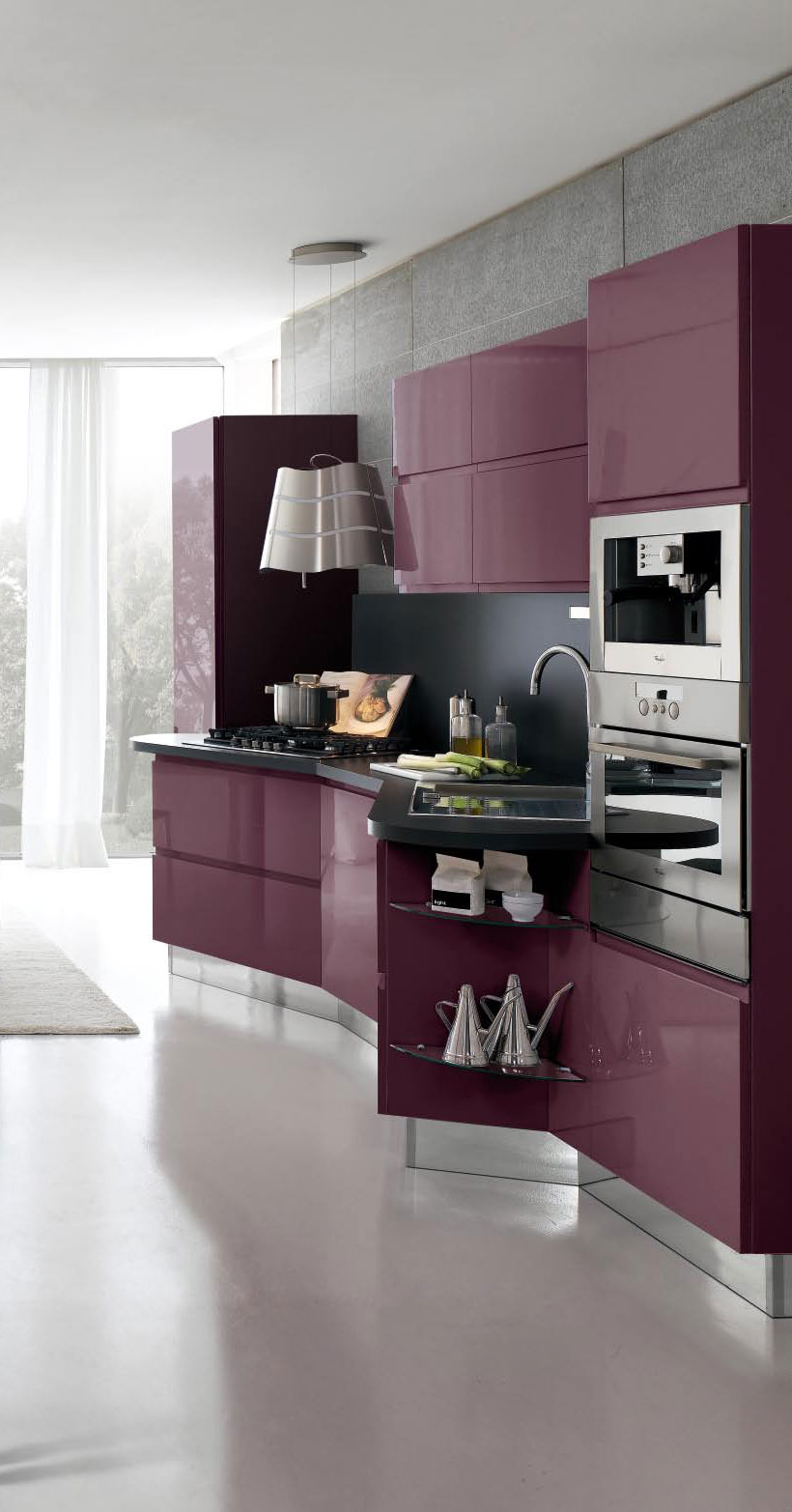 New modern kitchen design with white cabinets bring from for Latest kitchen cabinets