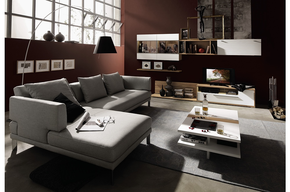 advertisement On contemporary living room furniture