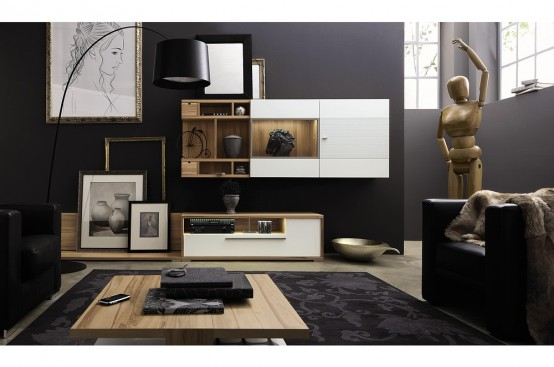 Modern Living Room Furniture Archives Digsdigs - Creative-side-system-for-fans-of-a-fashionable-black-and-white-color-theme-by-fimar