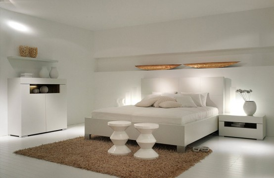 New Modern White Bedroom Furniture – Elumo by Huelsta