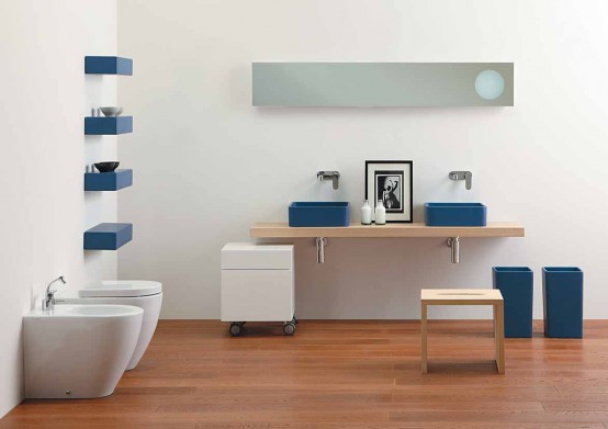 New Nice Blue Wash Basin for Small Bathroom – Robbiano Blue by Ceramica Flaminia