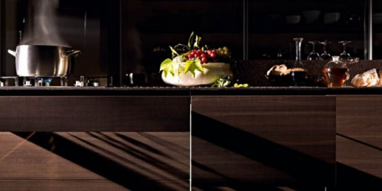New Wooden Kitchen With Natural Finish – Noce Tattile By Valcucine