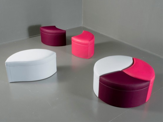 New Awesome Pink Bed And Modular Sofa From Valdichienti