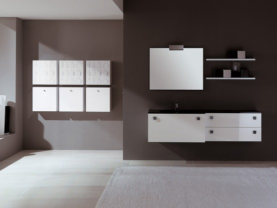 New Black And White Bathroom Furniture – Modo By EuroLegno