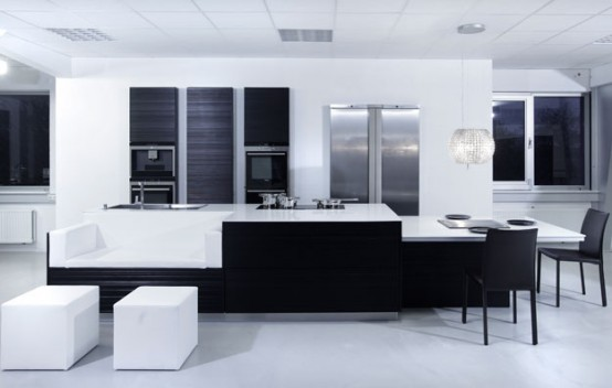 Charming Kitchen Modern Black. New Modern Black And White Kitchen Designs From  Kitcheconcept