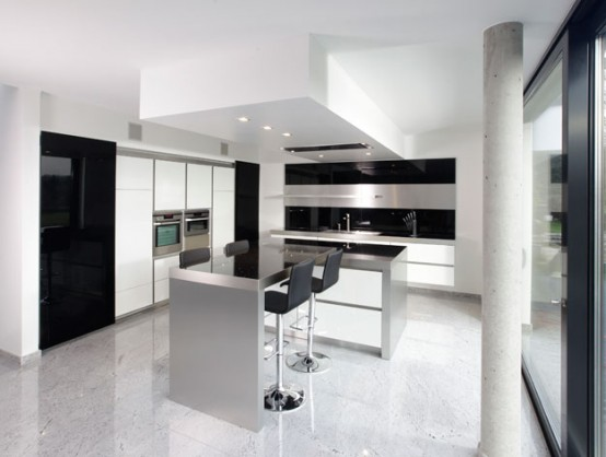 photos of new kitchens on PrettyBOY's Blog: New Modern Black and White Kitchen Designs from ...