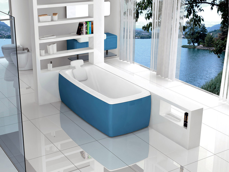 New Modern Blue Bathtub – Lucky Color by BluBleu