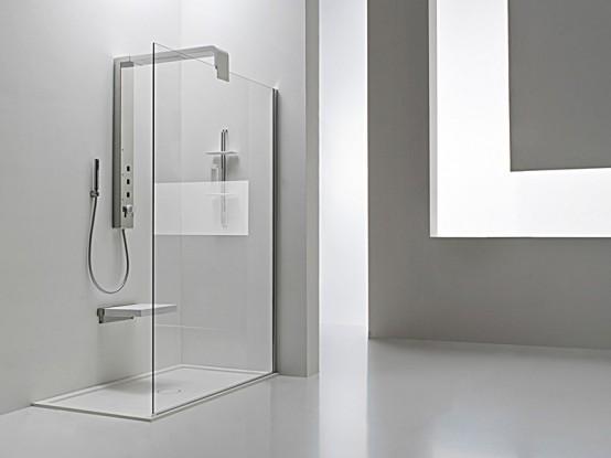 Bathroom rain shower ideas - New Modern Shower Column Onda By Arblu