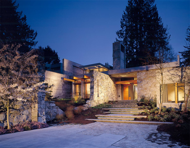 Northwest contemporary home woodway residence digsdigs for Northwest contemporary homes