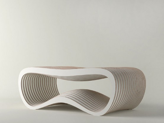 Nurbs Coffee Table In White