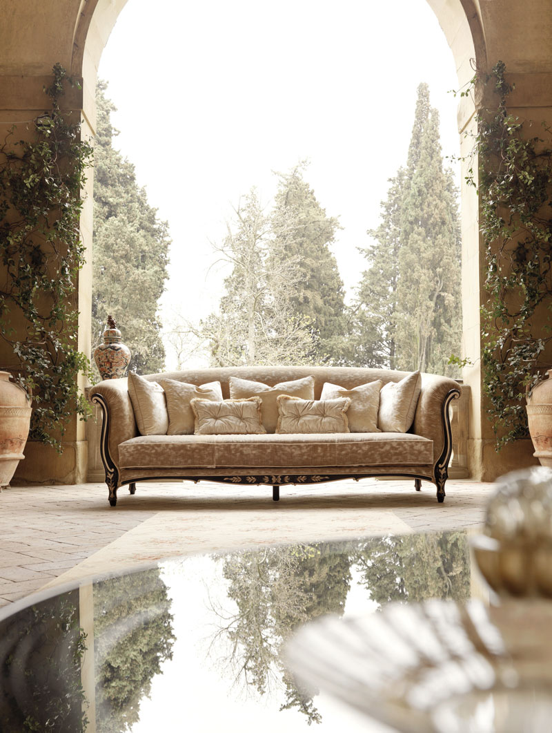 Opulent and Luxury Classic Sofa by Savio Firmino