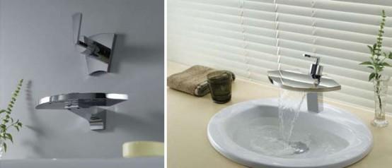 Original And Refine Waterfall Bathroom Tap Fan By Fluid
