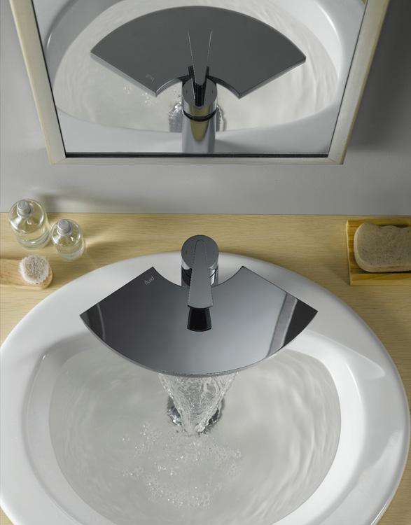 Original and Refine Waterfall Bathroom Tap – Fan by Fluid