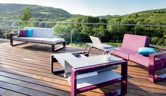 Outdoor Furniture Set With Adjustable Coffee Table – Kama by Ego Paris