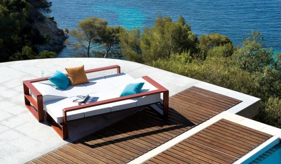 Outdoor Furniture Set With Adjustable Coffee Table Kama By Ego Paris