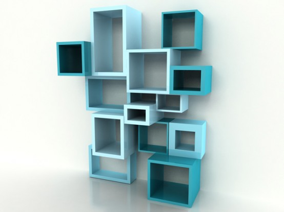 Flexible Bookshelf System Of Various Depth And Thickness