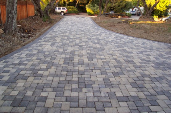 15 paving stone driveway design ideas - digsdigs