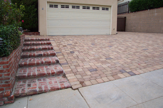 Lake house plans driveway design ideas for Bricks stone design