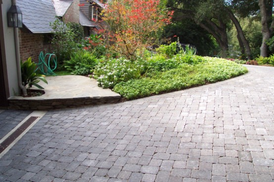 paving stone driveway design ideas - Driveway Design Ideas