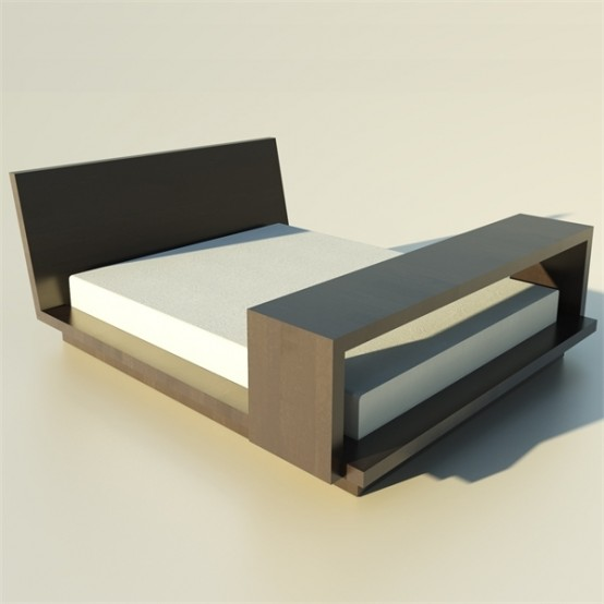 Practical Wooden Bed Piva By Tisettanta