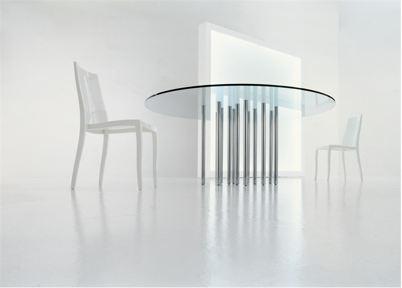 Rectangle And Round Glass Top Dining Tables – Mille by Bonaldo