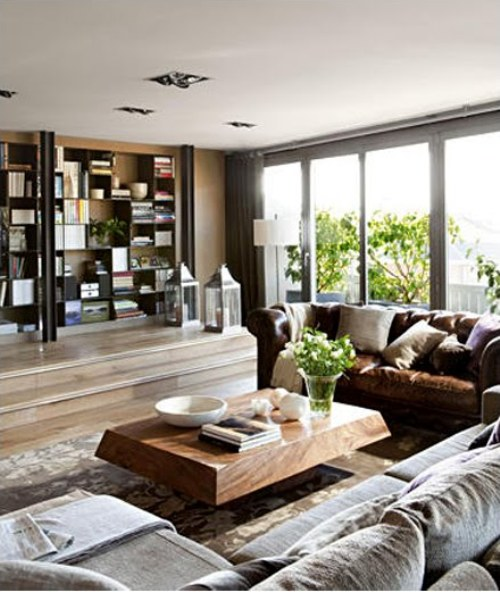 Cozy apartment in barcelona digsdigs for Cozy living room ideas for apartments
