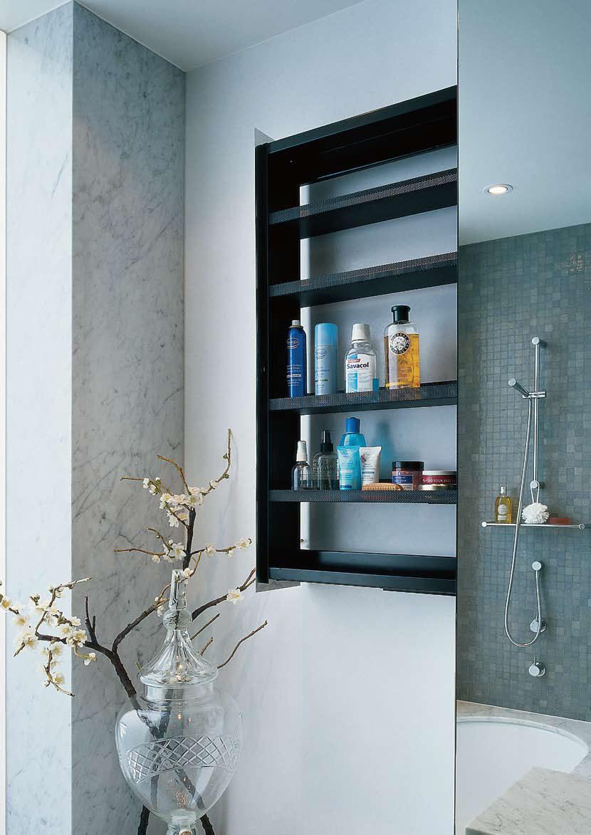 Sliding Bathroom Storage Unit Hidden In A Wall    Crab By Omvivo
