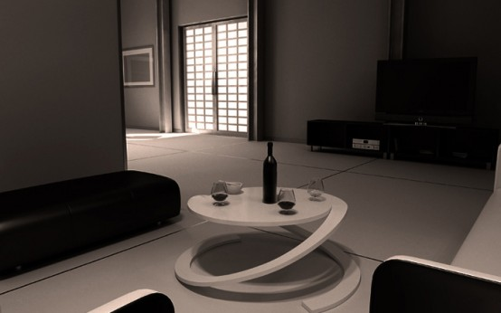 Optical Round Coffee Table – Reverence by Yoann Henry Yvon