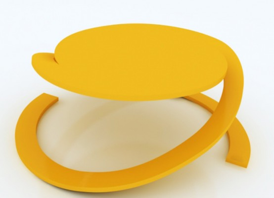 Stackable Round Coffee Table Reverence By Yoann Henry Yvon