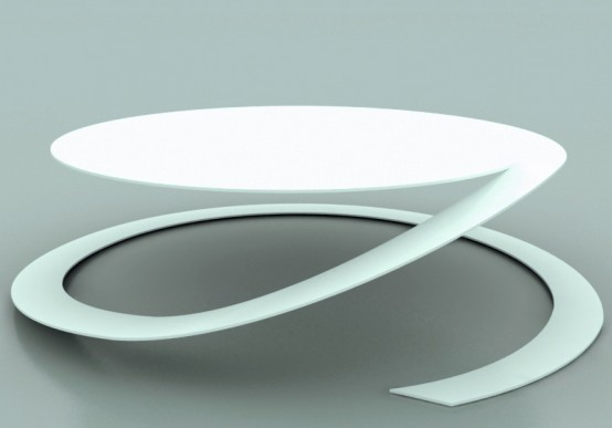 Beautiful Stackable Round Coffee Table Reverence By Yoann Henry Yvon