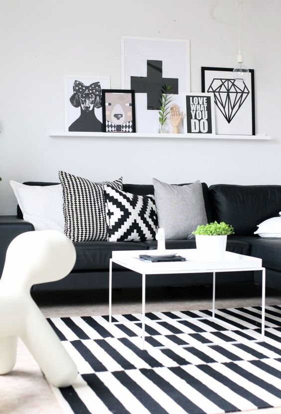 Stockholm Rug In A Scandinavian Living Room