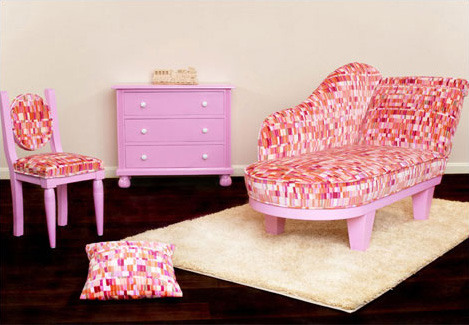 Stylish Lounge Chair for Luxury Kids Room by 4L - DigsDigs