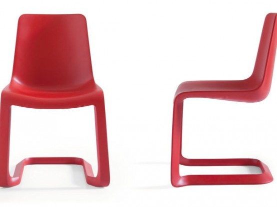 Stylish Red Chairs for Modern Dining Room – Nastro by Pianca