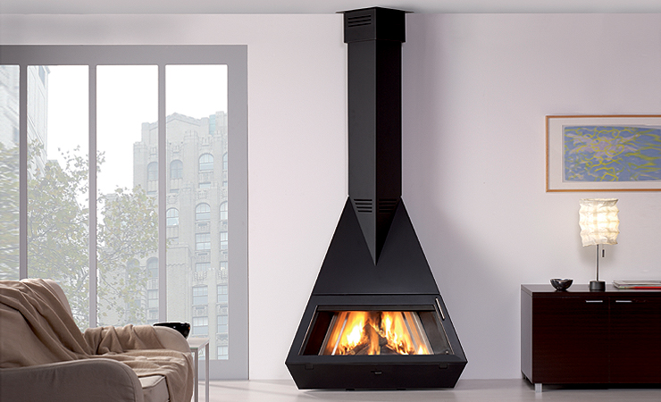 Modern Black Fireplaces By Rocal