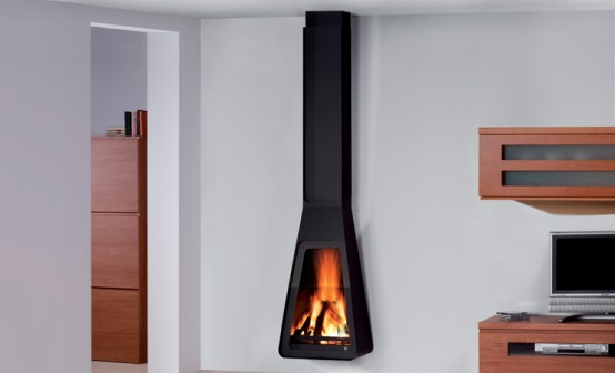 Stylish Black Fireplaces By Rocal