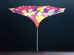 Sun Umbrella With LED Lights Tulip By MDT Tex