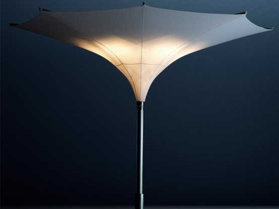 Sun Umbrella With Led Lights Tulip By Mdt Tex Digsdigs