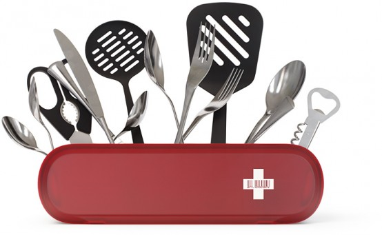 Swissarmius Cutlery Holder That Could Organize Your Kitchen Tools