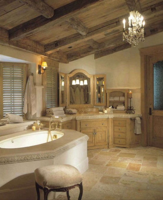 Rustic Traditional Bathroom Design