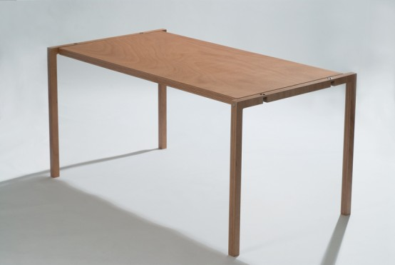 Very Flat Folding Table By Lodovico Bernaradi