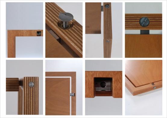 Very Flat Folding Table By Lodovico Bernaradi